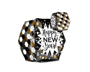 Foil Balloons - Geometric New Year Balloon Foil Balloons - 16 Inch