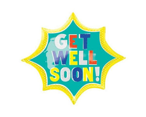 Foil Balloons - Get Well Soon Foil Balloon - 29 X 35 Inch