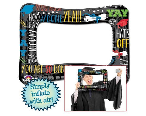 Foil Balloons - Graduation AIR FILL ONLY Selfie Frame Balloon - 23 Inch