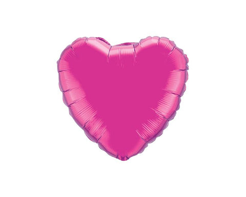 Foil Balloons - Heart Foil (Mylar) Balloons, Magenta Pink - 18 Inch