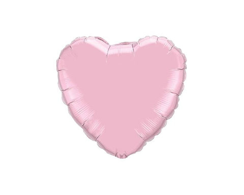Foil Balloons - Heart Foil (Mylar) Balloons, Pearl Pink - 18 Inch