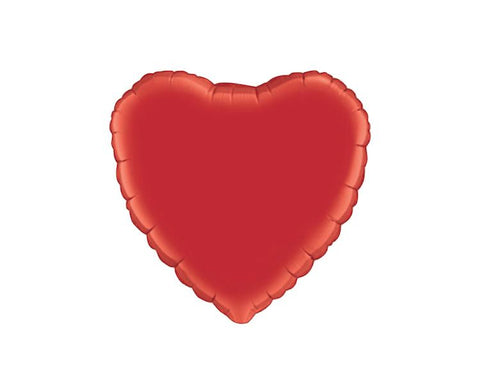 Foil Balloons - Heart Foil (Mylar) Balloons, Ruby Red - 18 Inch