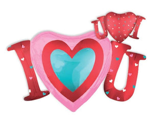 Foil Balloons - I Heart You Foil Balloon - 33 Inch