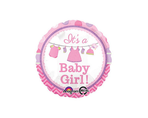 Foil Balloons - It's A Baby Girl Balloon Foil (Mylar) Balloons - 18 Inch