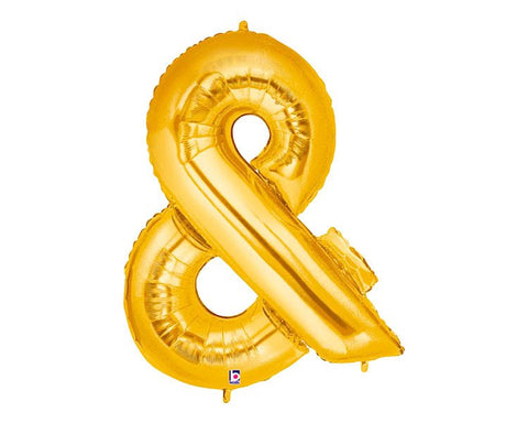 Gold Foil Ampersand Balloon