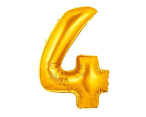 40 Inch Gold Number Balloons - Number 4