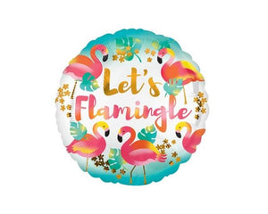 Foil Balloons - Let's Flamingle Foil Balloon - 18 Inch
