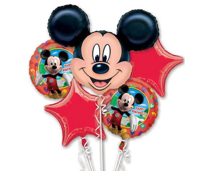 Foil Balloons - Mickey Mouse Birthday Party Balloon Foil (Mylar) Balloon Bouquet