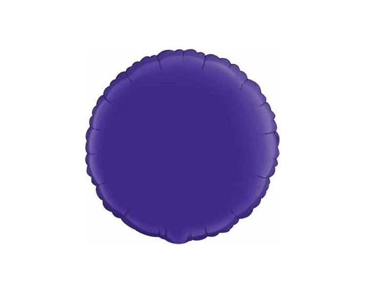 Foil Balloons - Round Foil (Mylar) Balloons, Purple - 18 Inch
