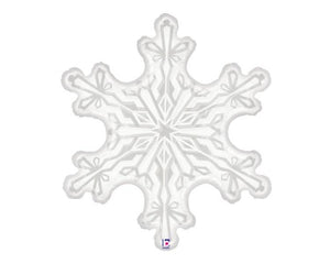Foil Balloons - Snowflake Foil Balloons - 38 Inch