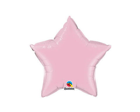 Foil Balloons - Star Foil (Mylar) Balloons, Pearl Pink - 20 Inch