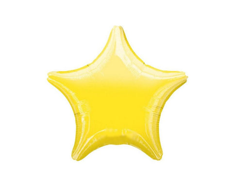 Foil Balloons - Star Foil (Mylar) Balloons, Yellow - 20 Inch