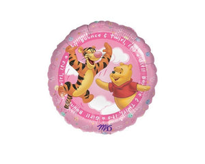 Foil Balloons - Winnie Pooh It's A Girl Balloon Foil (Mylar) Balloons - 18 Inch