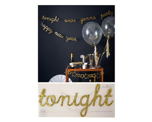 Garland - Happy New Year We're Gonna Party Tonight Garland, 1 Pc