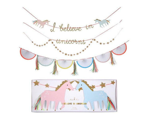 Garland - Rainbows And Unicorns Garland, 4 Pcs