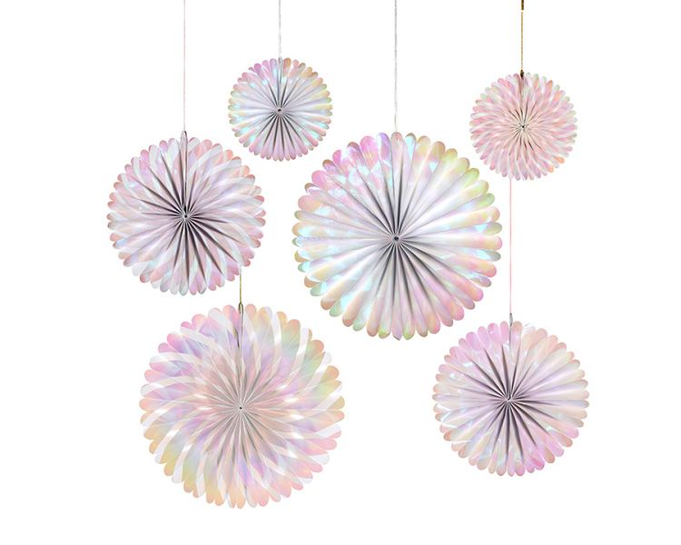 Hanging Decorations - Iridescent Pinwheels
