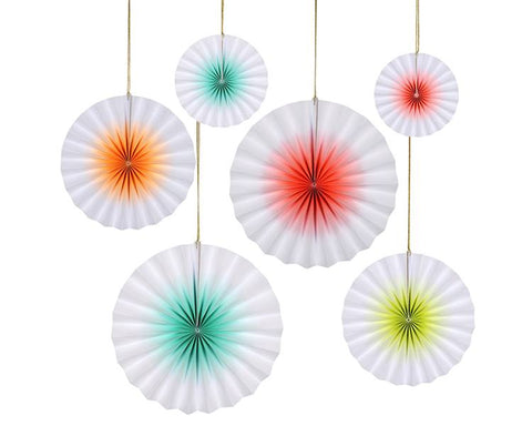 Hanging Decorations - Neon Ombre Pinwheels