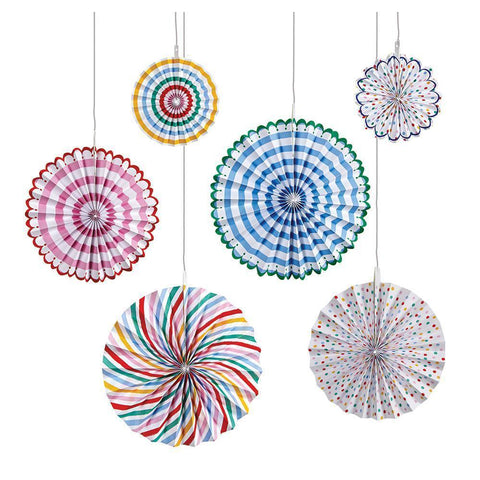 Hanging Decorations - Spots & Stripes Pinwheels
