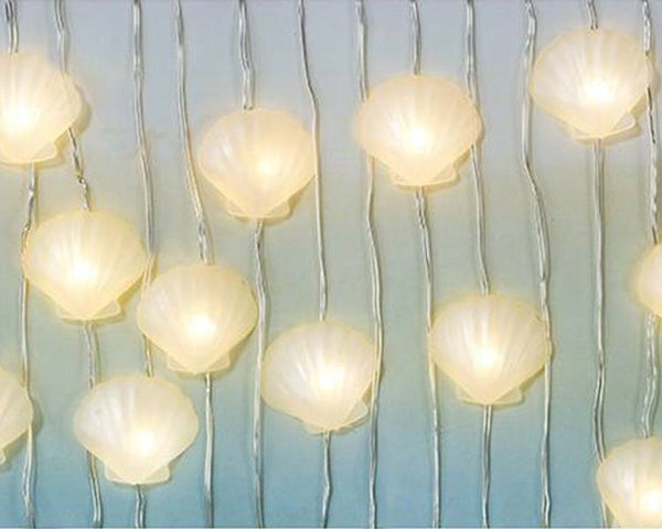 Hanging Decorations - We Heart Mermaids Shell LED Lights