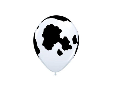 Latex Balloons - Cow Print Latex Balloons - 11 Inch