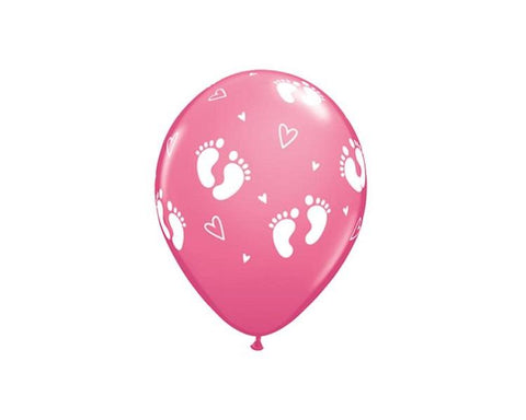 Latex Balloons - Girl Footprint Latex Balloon - 11 Inch