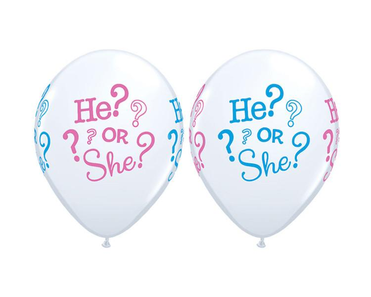 Latex Balloons - He Or She Question Mark Latex Balloons - 11 Inch