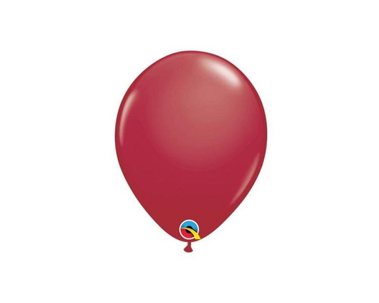 Latex Balloons - Maroon Red Latex Balloons - 11 Inch