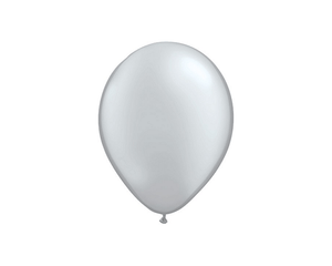 Latex Balloons - Silver Metallic Latex Balloons - 11 Inch