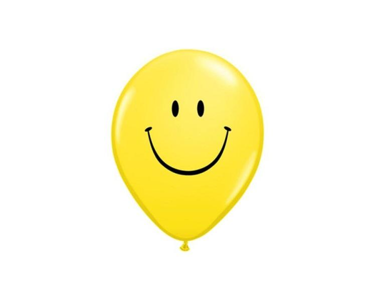 Latex Balloons - Smiley Face Latex Balloons - 11 Inch