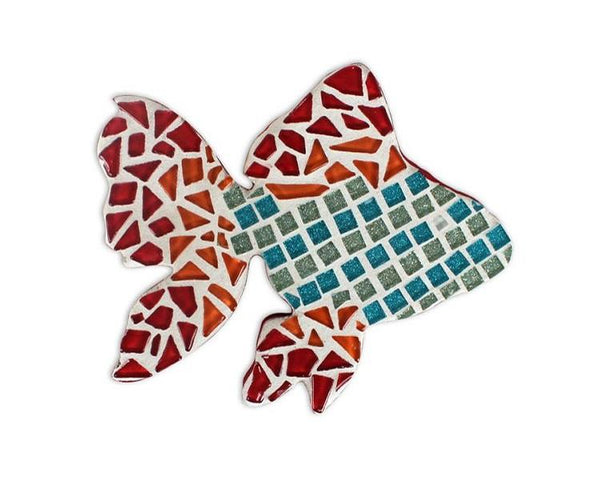 Mosaic Tile Plaque - Goldfish Mosaic Tile Project