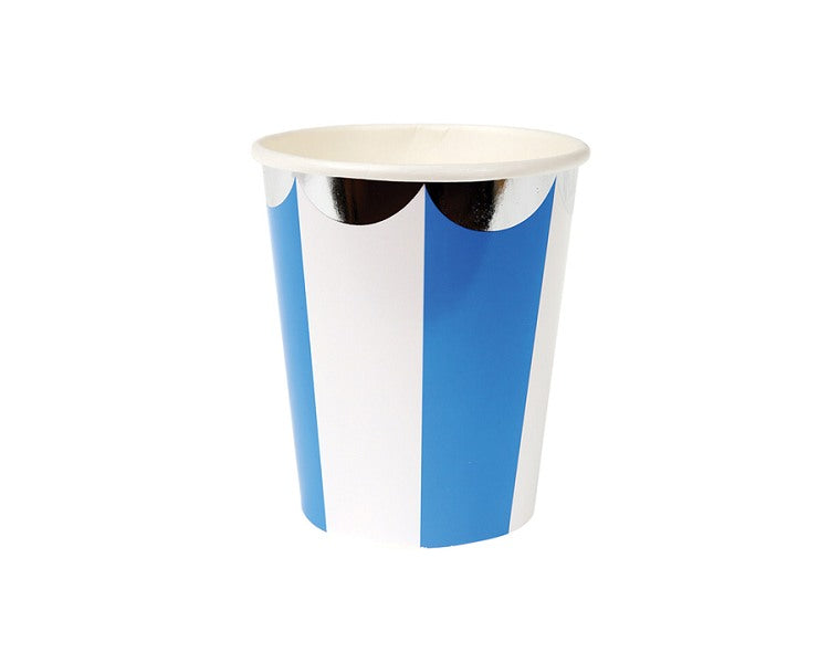 Paper Cups - Blue Striped Paper Cups