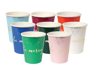Paper Cups - Glitter Be Jolly Paper Cups, Assorted, 8 Pcs