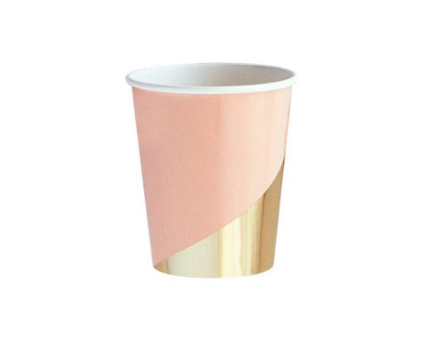 Paper Cups - Goddess Blush And Gold Paper Cups
