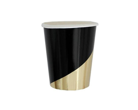 Paper Cups - Noir Black And Gold Paper Cups