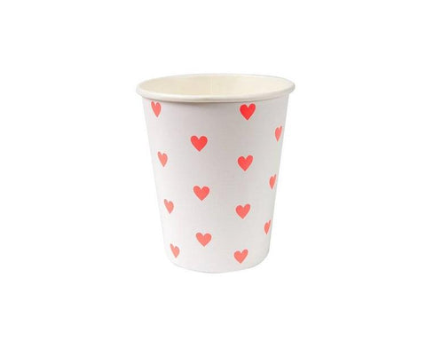 Paper Cups - Pink Heart Paper Cups