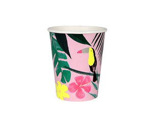 Paper Cups - Pink Tropical Paper Cups
