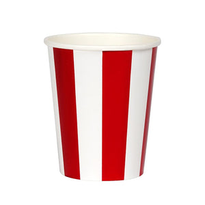 Paper Cups - Red Foil Stripe Paper Cups
