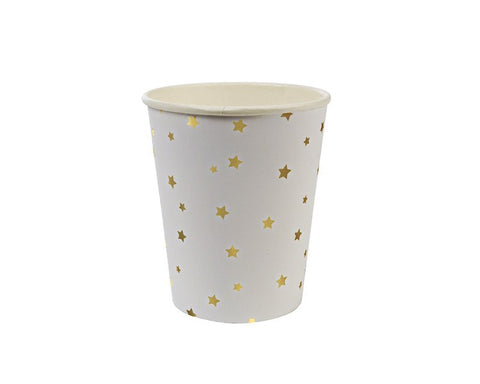 Paper Cups - Toot Sweet Gold Star Paper Cups, 8 Pcs