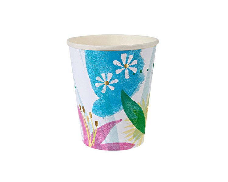 Paper Cups - Toot Sweet Painted Flowers Paper Cups