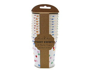 Paper Cups - Toot Sweet Spotty Paper Cups, 12 Pcs