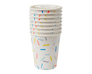 Paper Cups - Toot Sweet Sprinkles Party Cups, 8 Pcs