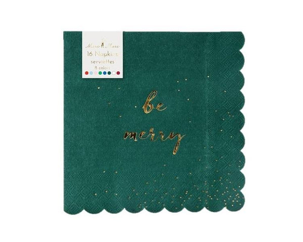 Paper Napkins - Be Merry Paper Napkins, Large