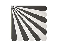 Paper Napkins - Black Stripe Large Paper Napkins, 20 Pcs