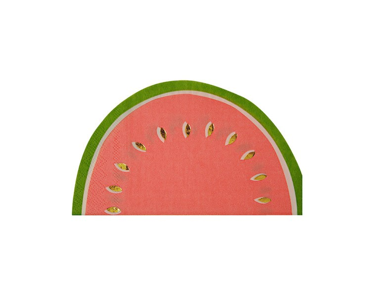 Paper Napkins - Fruit Watermelon Large Napkins, 16 Pcs