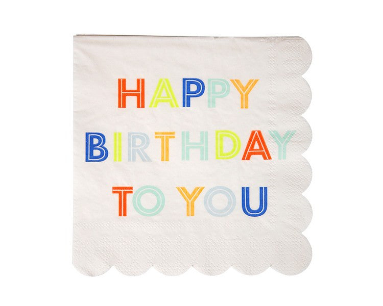 Paper Napkins - Happy Birthday To You Large Paper Napkins