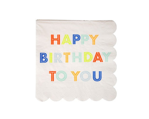 Paper Napkins - Happy Birthday To You Small Paper Napkins