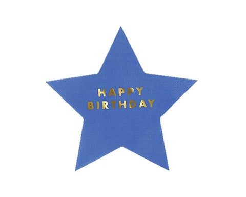 Paper Napkins - Jazzy Stars Happy Birthday Large Paper Napkins