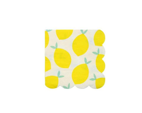 Paper Napkins - Lemon Paper Napkins, Small