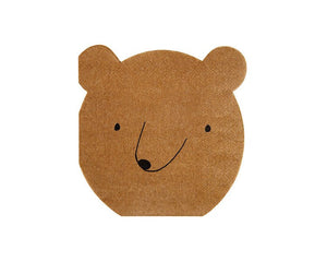Paper Napkins - Let's Explore Bear Small Paper Napkins