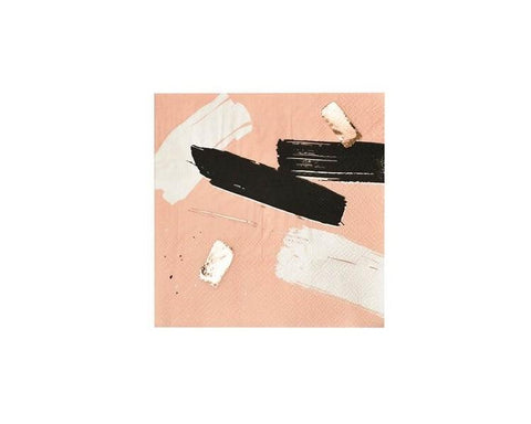 Paper Napkins - Muse Peach Abstract Paper Napkins, Small